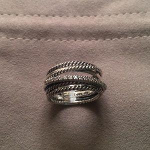 David Yurman Crossover Diamond Ring Size 7